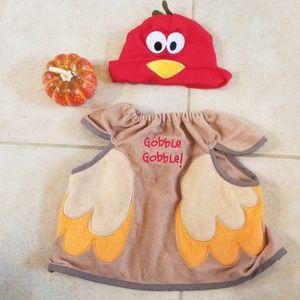 Thanksgiving bib and hat